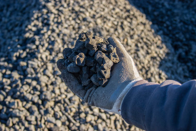 "Clean Crushed Black Basalt Gravel ¾"" - 1¼"""