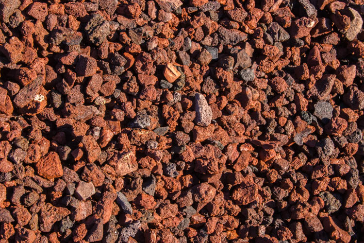 "Red Lava Rock 1"" - 1½"""