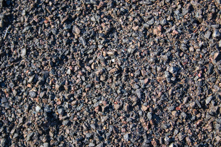 "Crushed Back Basalt Gravel ¼"" minus"