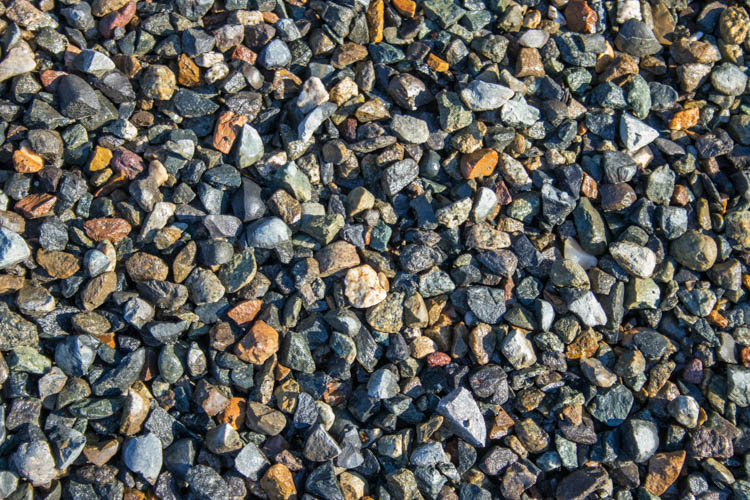"Clean Crushed Gravel ⅝"" - ¾"""