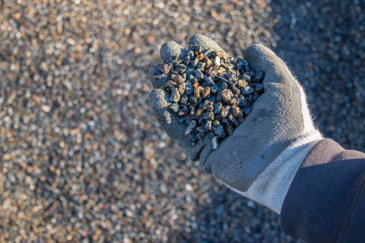 Clean Crushed Gravel ¼""