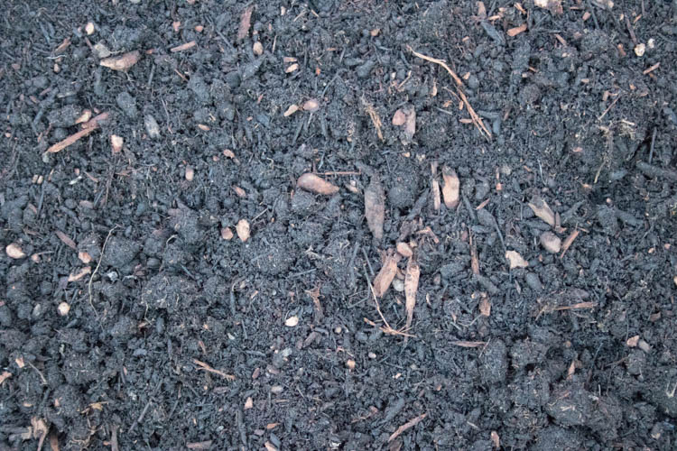 50/50 mix of Cedar Grove compost and medium bark. High in nutrients, nearly black in color.